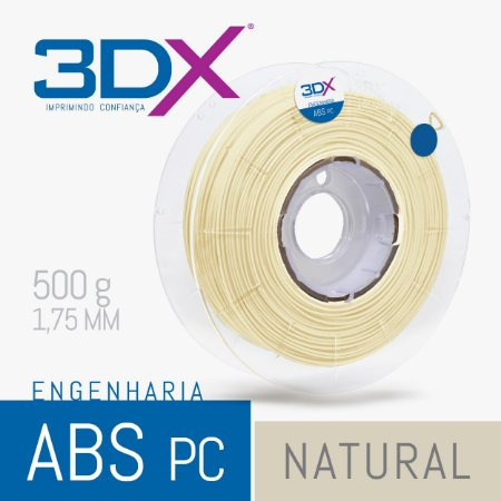 Filamento ABS PC 500g 1,75 Natural
