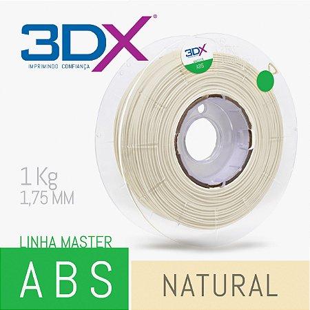 Filamento ABS 1kg 1,75 Natural Radiopaco