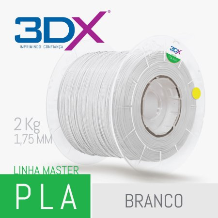 Filamento PLA HT 2kg 1,75 Branco BIG