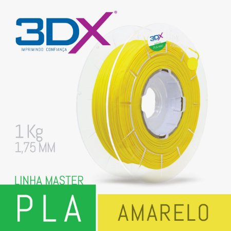 Filamento PLA HT 1kg 1,75 Amarelo