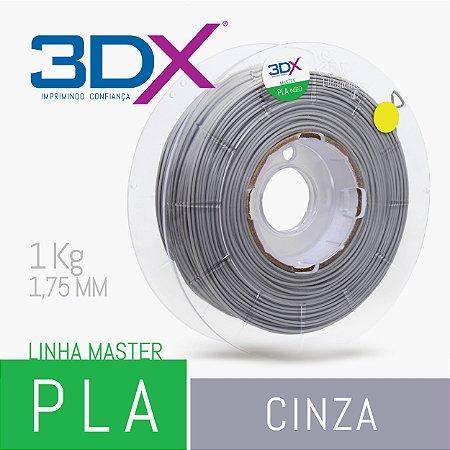 Filamento PLA HT 1kg 1,75 Cinza