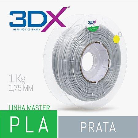 Filamento PLA HT 1kg 1,75 Prata