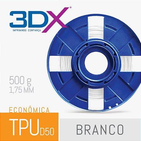Filamento TPU Flexível 500g 1,75 Branco