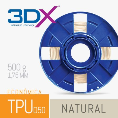 Filamento TPU Flexível 500g 1,75 Natural