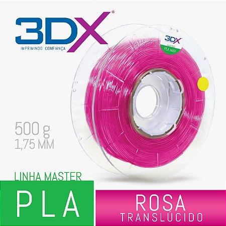 Filamento PLA C 500g 1,75 Rosa Translucido