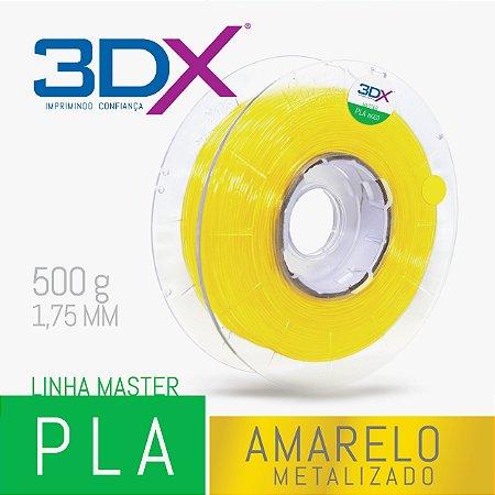Filamento PLA HT 500g 1,75 Amarelo Metal