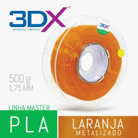 Filamento PLA HT 500g 1,75 Laranja Metal
