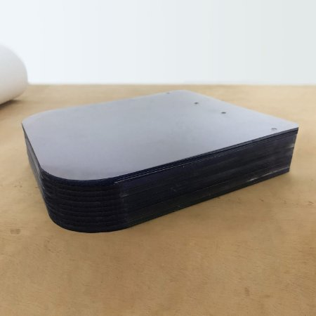 Pacote 100 chapas de PVC 270 x 240 x 0,5mm