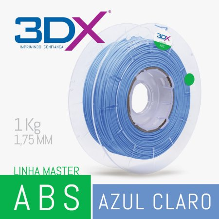 Filamento ABS 1kg 1,75 Azul Claro