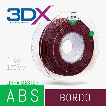 Filamento ABS 1kg 1,75 Bordo (Vinho)
