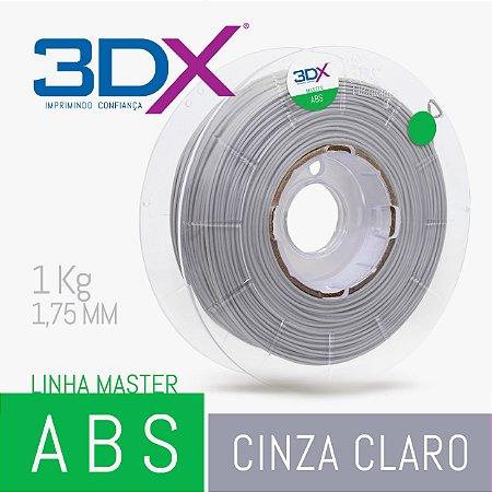 Filamento ABS HI 1kg 1,75 Cinza Claro