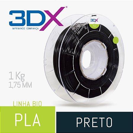 Filamento Pla Bio (Cana) Preto 1,75 Mm 1kg