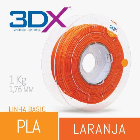 Filamento Pla Laranja 1,75 Mm 1kg Basic Full