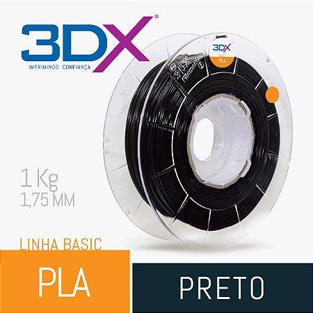 Filamento Pla Preto 1,75 Mm 1kg Basic Full