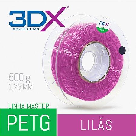 Filamento PETG 500g 1,75 Lilas Translucido