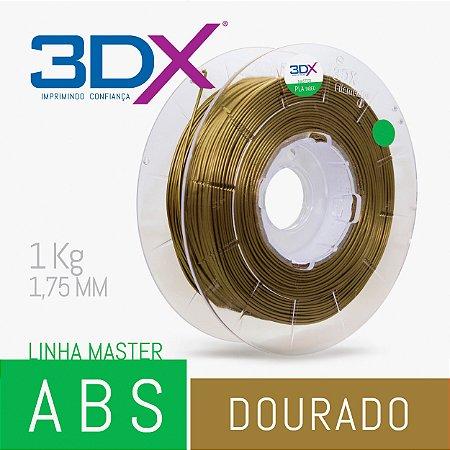 Filamento ABS 1kg 1,75 Dourado