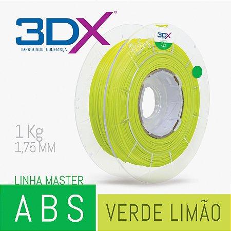 Filamento ABS 1kg 1,75 Verde Limão