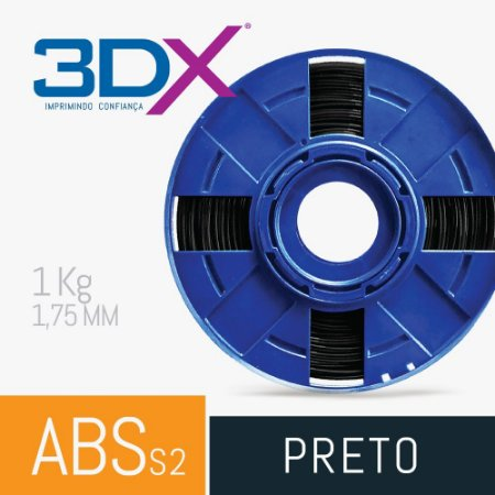 Filamento ABS S2 1kg 1,75 Preto