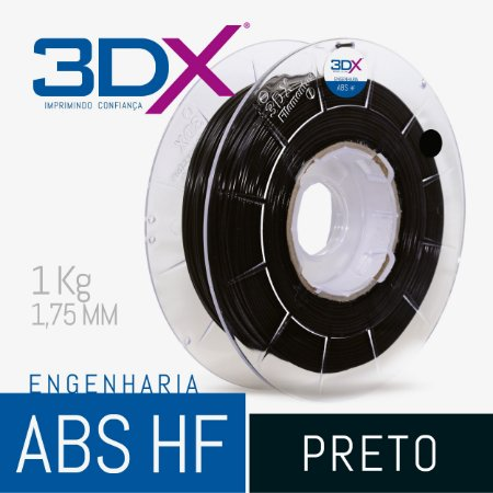 Filamento ABS HF 1kg 1,75 Preto