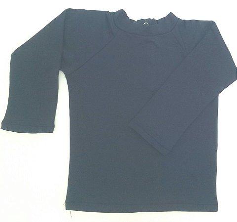 camiseta longa marinho