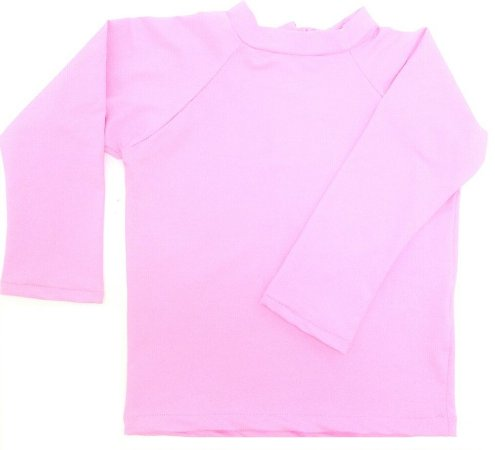camiseta longa rosa