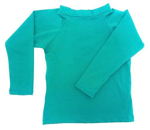 camiseta longa turquesa
