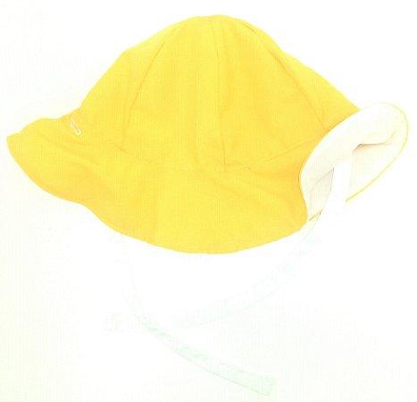 Chapéu dupla-face amarelo+branco