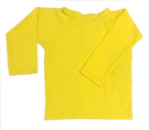 camiseta longa amarela