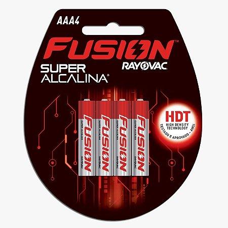 PILHA FUSION SUPER ALCALINA AAA4
