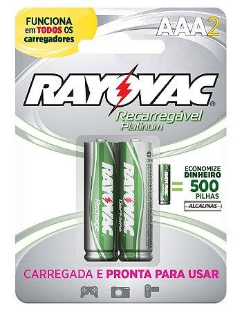 Pilha Recarregável Platinum Grade AAA 750 mAh - Rayovac