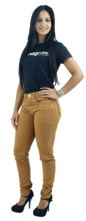 Calça Jeans Feminina Brim Caramelo Ref. 1014