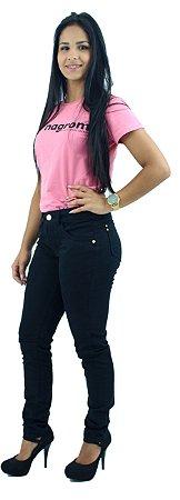 Calça Jeans Feminina Brim Preta Ref.1016