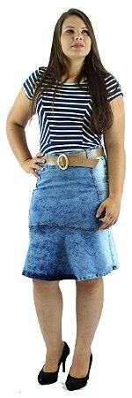 Saia Evangélica Jeans Azul Claro Ref.066
