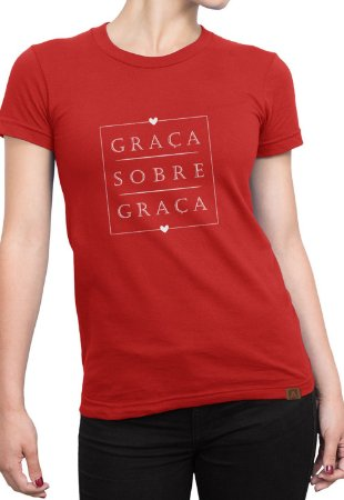 T-shirt Moda Evangélica Anagrom Vermelha Ref.C005