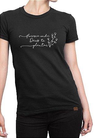 T-shirt Frases Moda Evangélica Anagrom Preta Ref.C012