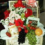 Cesta Flores e Frutas
