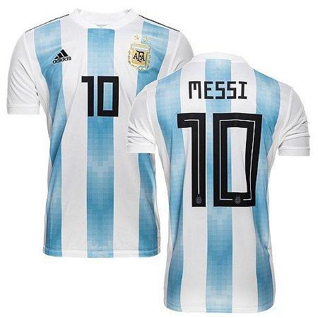 9f3988af9cd19 Camisa Argentina Home 2018 Nº10 Messi - Site especializados em ...