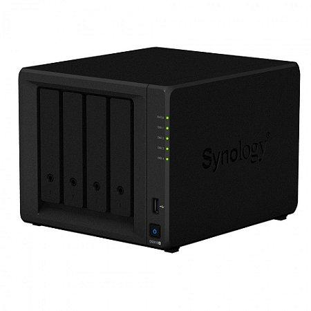 Storage de rede NAS Synology DiskStation DS918+ 4 Baias (expansível a 9 baias)