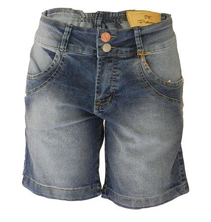 cd0b004abb Bermuda Jeans Feminina Tradicional Cinza Lavada Plus Size - Preferencial  Jeans -  VAREJO
