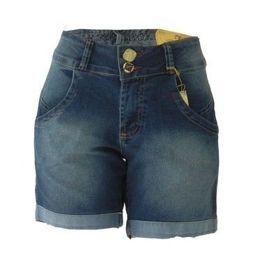 31954fed2 Bermuda Jeans Feminina Tradicional Plus Size - Preferencial Jeans -  ATACADO  5 UNIDADES