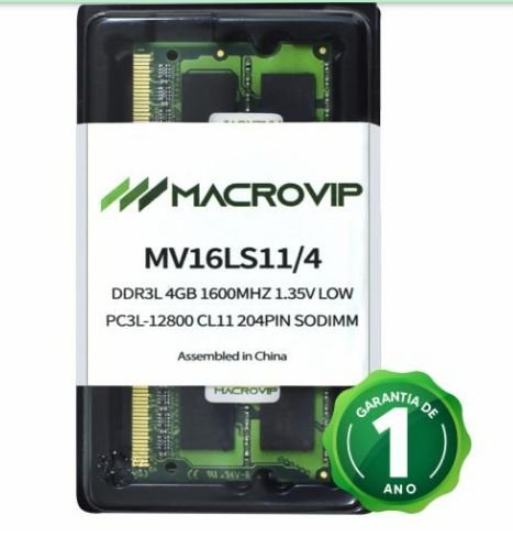 MEMORIA NOTEBOOK DDR3L 4GB MACROVIP