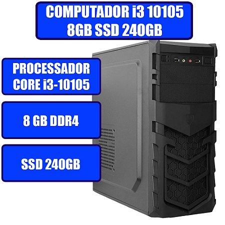 COMPUTADOR GENIOS HOME-OFFICE CORE I3-10105, 8GB, SSD 240GB E WINDOWS 10