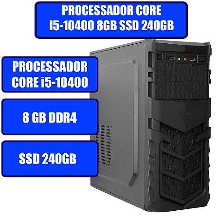 COMPUTADOR GENIOS HOME-OFFICE CORE i5-10400, 8GB, SSD 240GB E WINDOWS 10