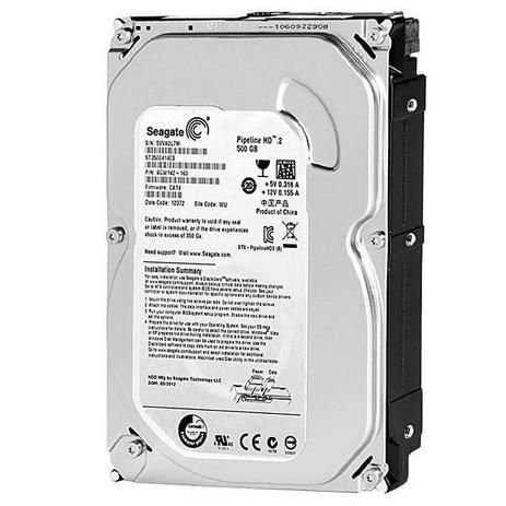"HD SEAGATE PIPELINE 500GB 3.5"" SATA II, ST3500312CS"