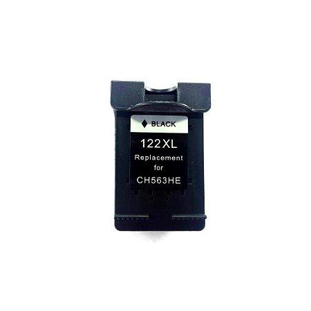 Cartucho de Tinta Compatível HP 122XL Preto 1000 2000 2050 3050