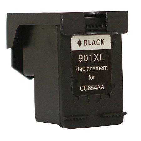 Cartucho de Tinta Compatível HP 901XL Preto CC654AL CC654AB CC653AB