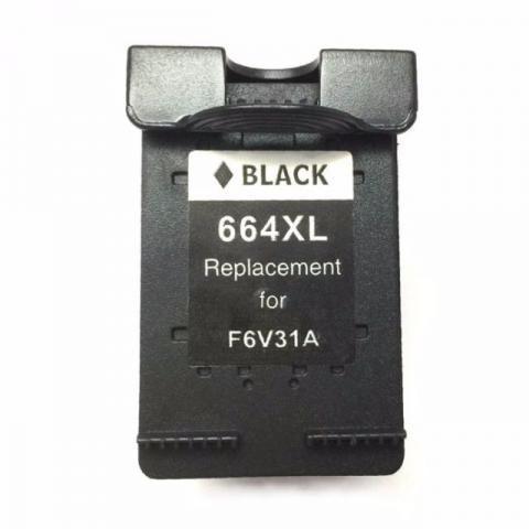 Cartucho Tinta Compatível HP 664XL Preto F6V31A 2136 3636 3836 4536