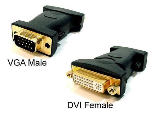Adaptador DVI Fêmea x VGA Macho