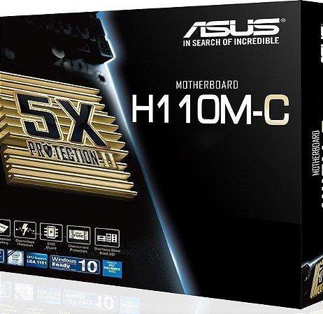 Placa Mãe Asus Intel  H110M-C  Lga 1151