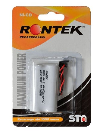 Bateria Telefone S/Fio Rontek Recarregável 2,4V AA 600maH